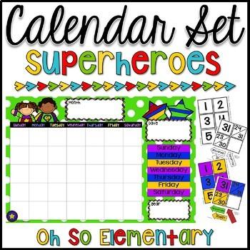 Calendar Set - Superheroes