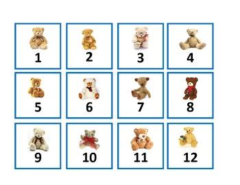 Calendar Set - Teddy Bears