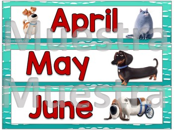 Calendar Set The Secret Life of Pets