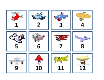 Calendar Set - Transportation --- Air