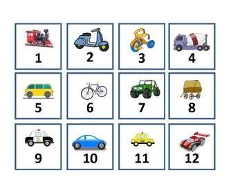Calendar Set - Transportation --- Land
