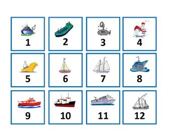 Calendar Set - Transportation --- Water