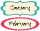 Calendar Set - Turquoise Dot Theme