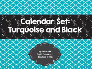 Calendar Set-Turquoise and Black
