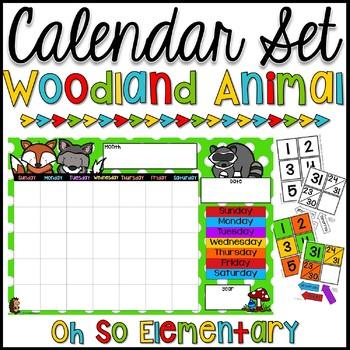 Calendar Set - Woodland Animals