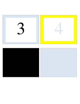 Calendar Set (Yellow, Pale Blue, and Black)