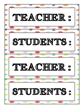Attention Grabber-Call and Response Printables for Display