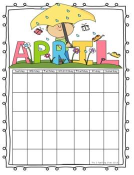 Calendar Set by The 2 Teaching Divas