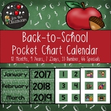 Calendar Set for Pocket Chart - Back-to-School Decor