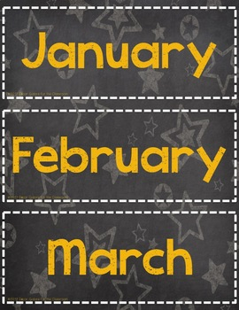 Calendar Set for Pocket Chart - Carnival / Circus Decor