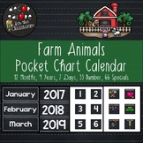 Calendar Set for Pocket Chart - Farm Animals Decor