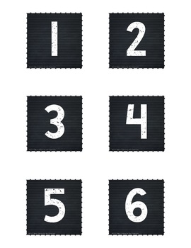 Calendar Set for Pocket Chart - Farm Animals Decor