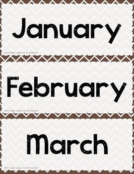 Calendar Set for Pocket Chart - Happy Campers Decor