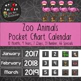 Calendar Set for Pocket Chart - Zoo Animals Decor