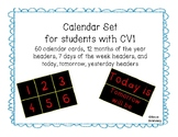 Calendar Set for Students with CVI