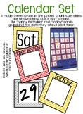 Calendar Set (gray, yellow)