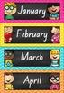 Calendar Set in Chalkboard and Chevron (NSW Foundation Font)