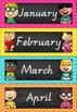 Calendar Set in Chalkboard and Chevron (Victorian Cursive Font)