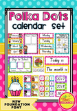 Calendar Set in Polka Dots (NSW Foundation Font)