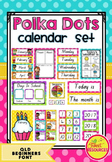 Calendar Set in Polka Dots (Queensland Beginners Font)