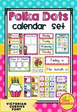 Calendar Set in Polka Dots (Victorian Modern Cursive Font)