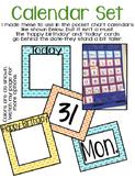 Calendar Set (orange, blue)