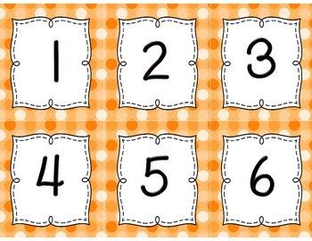 Calendar Set { orange polka dots }