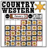 Calendar Display {Country Western Classroom Decor Theme}