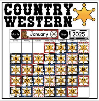 Calendar Display {Country Western Classroom Decor Theme}