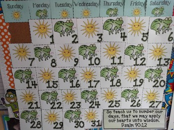 Calendar Sets for the Entire Year! (With Math Patterns)