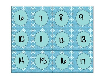 Free Calendar Shapes With Snowflake Backgrounds