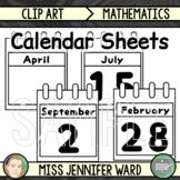 Calendar Sheets Clip Art