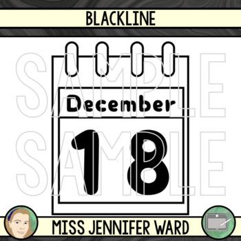 Calendar Sheets Clip Art : Blue Swirl BUNDLE #OctTPTClipLove