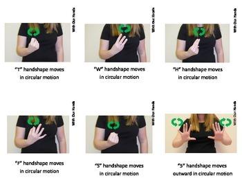 Calendar Sign Language (ASL) Vocabulary Cards