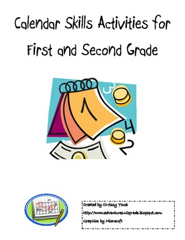 Calendar Skill Activities for First and Second Grades