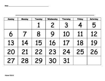 Calendar Skills: A Game!