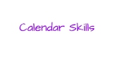 Calendar Skills Adapted Morning Work