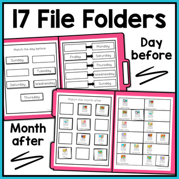 Calendar Skills File Folder Activities for Special Education and Autism