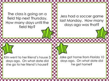 Calendar Skills Task Cards