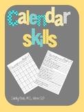 Calendar Skills for Life Skills/Speech Therapy