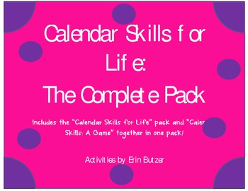 Calendar Skills for Life: The Complete Pack