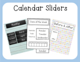 Calendar Sliders - Days of the Week, Months, and Before & After