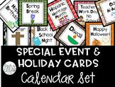 Calendar Special Event & Holiday Cards