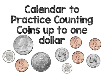 Calendar Squares to Practice Counting Money