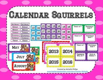 Calendar - Squirrels