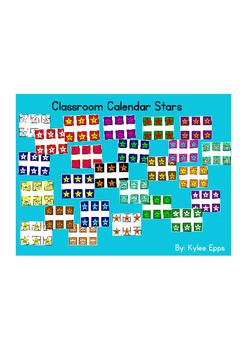 Calendar Stars Multicolored