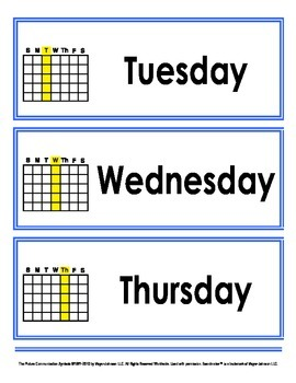 Adapted Calendar Time Starter Kit - Pictures and Words!