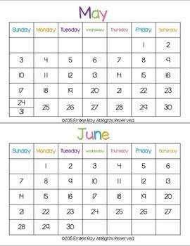 Calendar Station - Task Cards