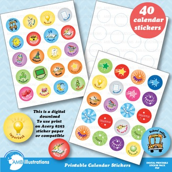 Calendar Stickers, Motivational Seasonal AMB-875