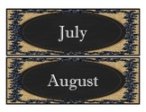 Calendar, Subject Headers, Alphabet, Chalkboard, Blue Jean